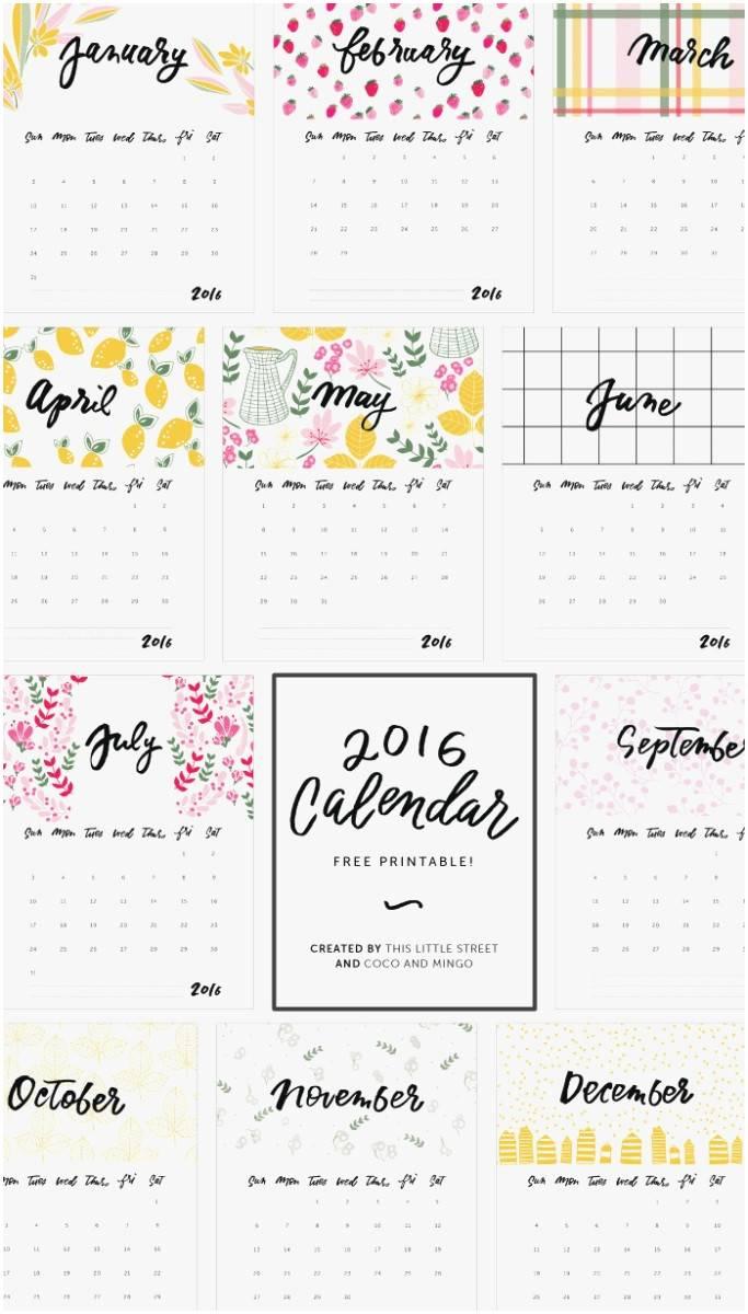 Year At A Glance Calendar Template 2017
