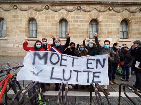 Piquet de grève MOET du 30 janvier