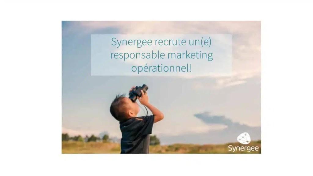 Synergee Recrute Un E Responsable Marketing Opérationnel