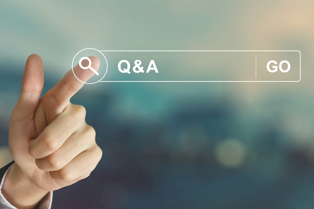 Business,Hand,Clicking,Q&a,Or,Question,And,Answer,Button,On