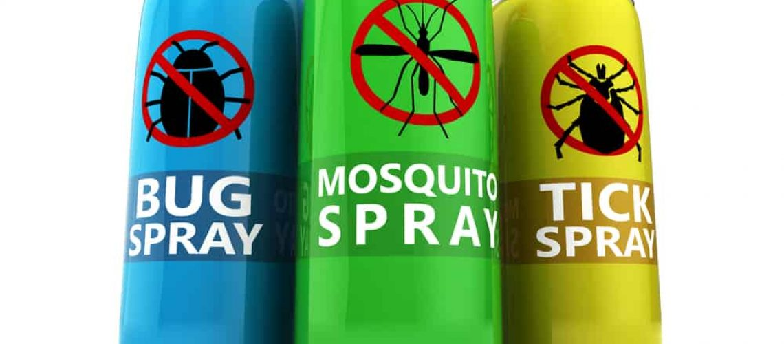 3d,Illustration,Of,Three,Different,Insecticide,Bottles