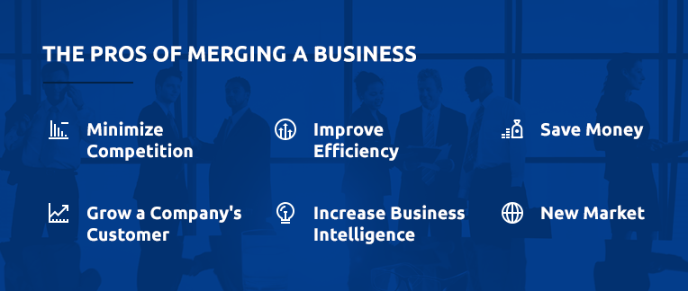 Pros of Merging a business breakdown.