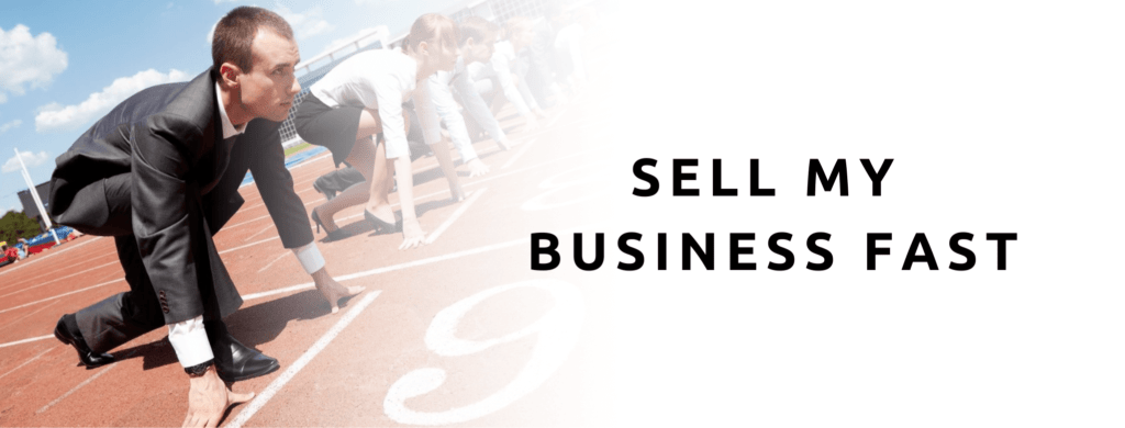 Man lining up to race to sell his business fast.