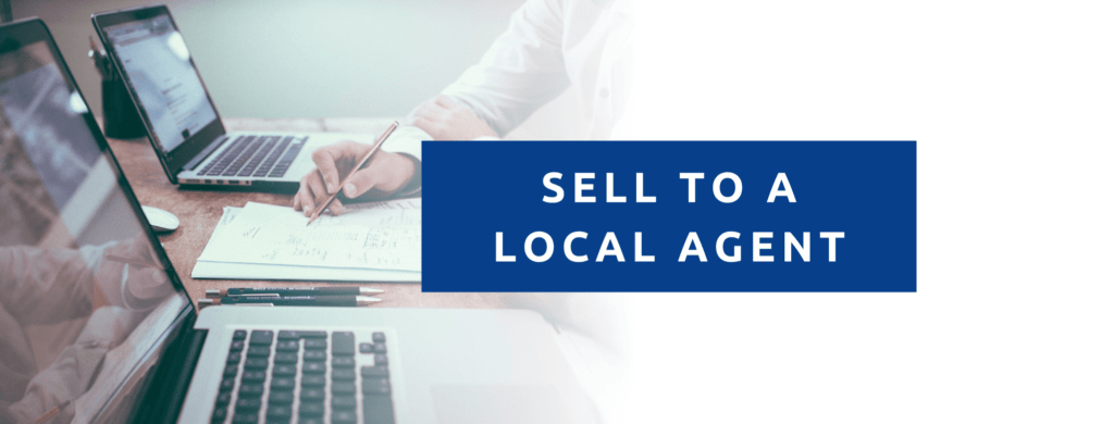 Sell my insurance agency to a local insurance agent.