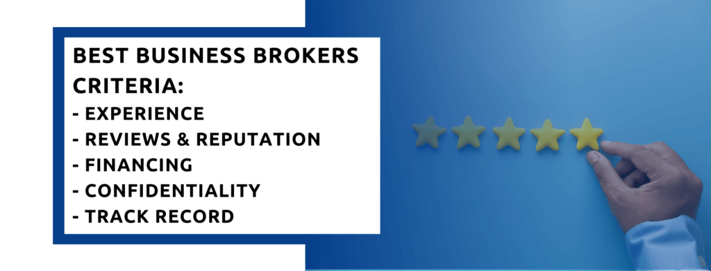 Criteria to rank the best US Business Brokers.