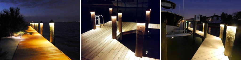 led dock lighting for boat docks and pilings synergy electric sarasota bradenton electrician