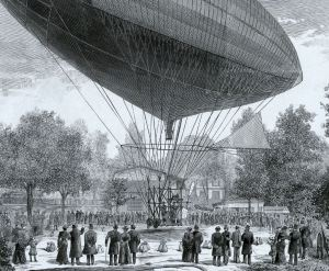 Gaston Tissandier's Electric propulsion Airship