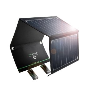 Solar Power Charger with USB ports