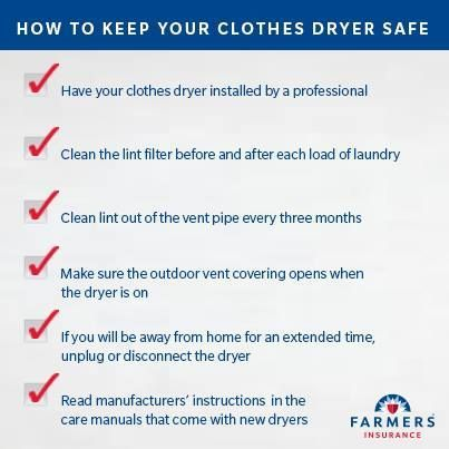Top 9 Tips To Prevent Clothes Dryer Fires