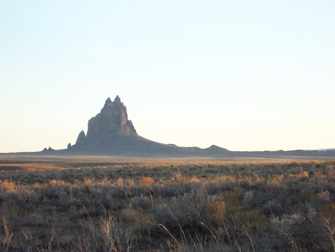 Shiprock, near Farmington, NM, USA