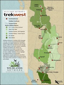 TrekWest Trail Map