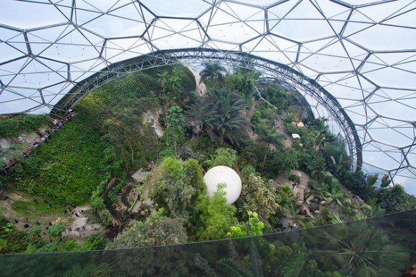 Looking Down Into Eden: Rainforest Biome © James Laing with CCLicense