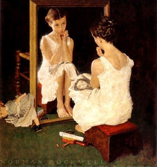 Norman Rockwell, Girl at her Mirror  © Bob Swain with CCLicense