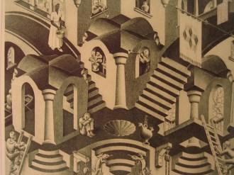 Convex and Concave, M.C. Escher, 1955 © Esteban Romero with CCLicense