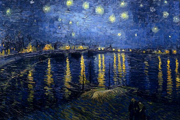 Starry Night Over the Rhone, Vincent van Gogh, 1888