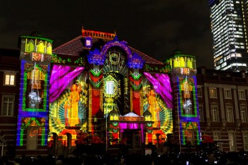 Projection Mapping on Tokyo Station image © t-mizo with CCLicense