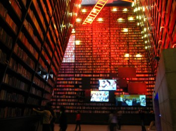 Bookshelves in Urbanian Pavilion, World Expo 2010, Shanghai, China © Lucia Wang with CCLicense