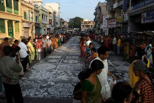 Kolam Competition, Chennai, Tamil Nadu, India © Simply CVR with CCLicense