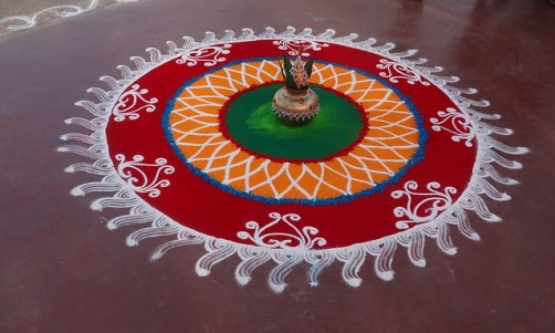 Festival Rangoli Public Domain Image via Pixabay