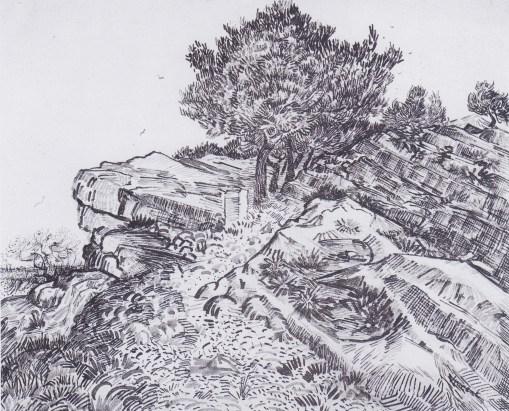 Van_Gogh_-_Felshügel_mit_Bäumen_-_Montmajour