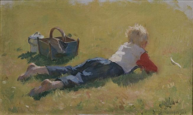 Little Child in the Grass, 1923 Bernt Grønvold