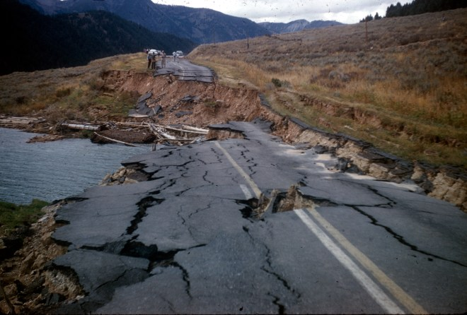 Hebgen Lake Earthquake, Montana, USA, August 1959 Public Domain Image by the US Government, Department of the Interior