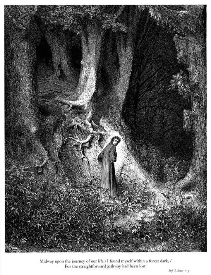 512px-Gustave_Doré_-_Dante_Alighieri_-_Inferno_-_Plate_1_(I_found_myself_within_a_forest_dark...)