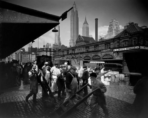 Fulton Street Fish Market, New York, 1935
