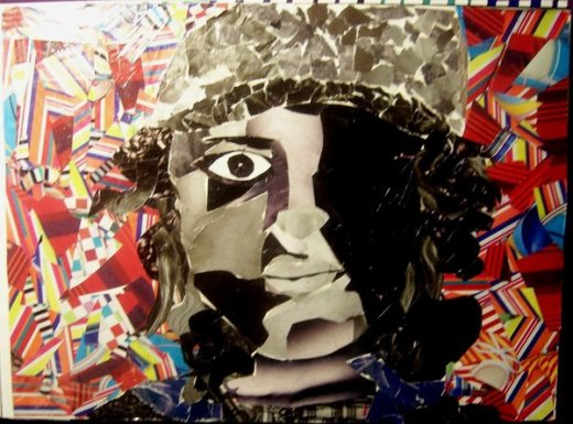 Collage Self Portrait by beatonthe brat with CCLicense