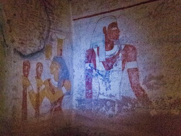 Some of the painting in the ancient Nubian tombs at El-Kurru near Karima, Sudan.