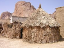 Thatched hut house in Toteil near Kassala and Taka Mountains, eastern Sudan