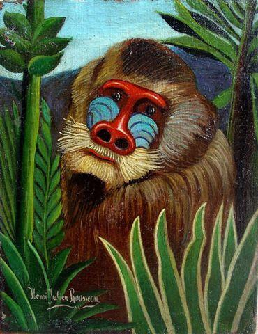 Rousseau, Mandrill in the Jungle, 1909