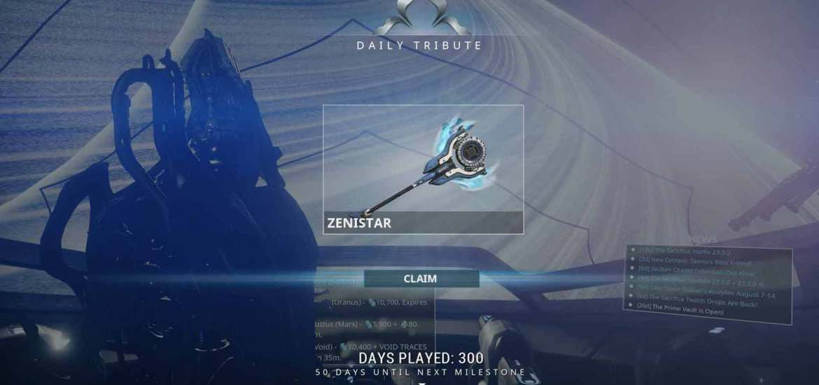 About the Proposed Warframe Login Reward Changes – Synnistry