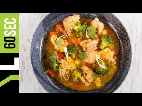 Κοτόπουλο γλυκόξινο με λαχανικά & ανανά | Yiannis Lucacos