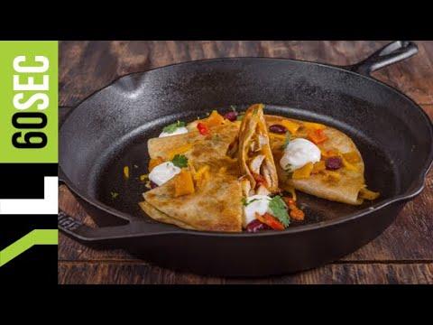 Quesadillas με κοτόπουλο, τσένταρ, κόκκινα φασόλια & πιπεριές | Yiannis Lucacos