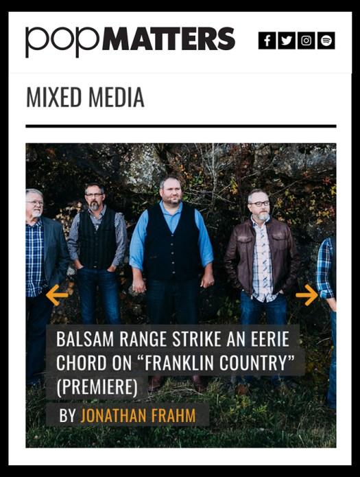 PopMatters, Balsam Range, bluegrass, Mountain Home Music Company, Syntax Creative - -image