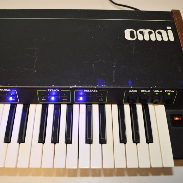 Vintage ARP Omni Keyboard Synthesizer Overhauled with LED Sliders