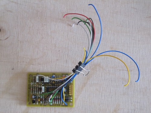 small resolution of pcb with wires soldered