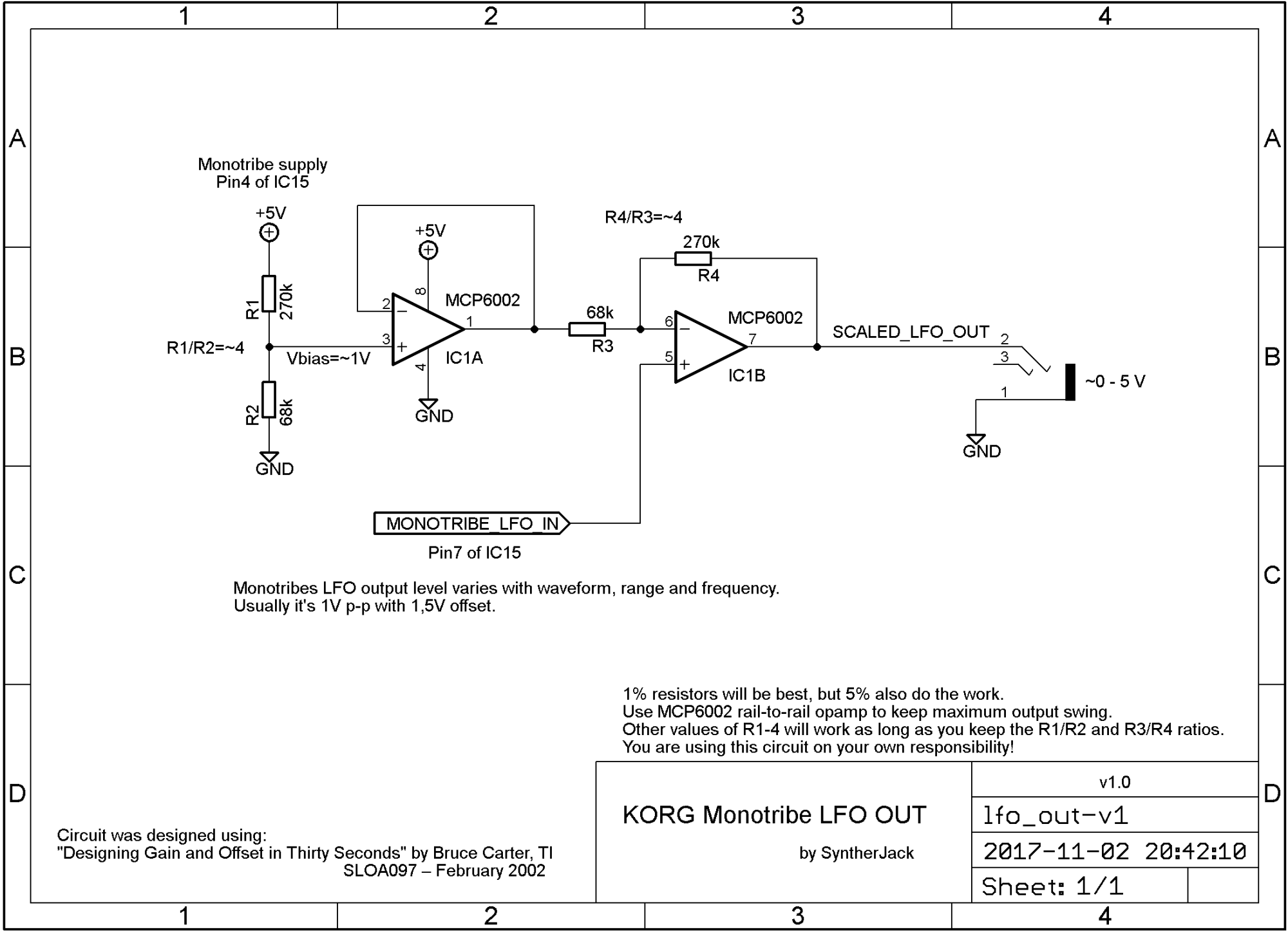 hight resolution of lfo output scaling circuit schematic