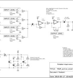 4sum portable audio mixer syntherjack synth diy source simpleutilitymixer mixer audiocircuit circuit diagram [ 1570 x 1072 Pixel ]