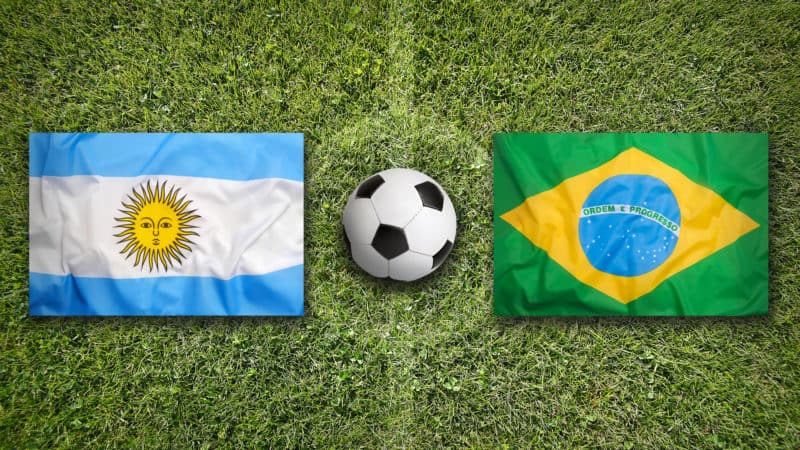 argentina and brazil flags world cup