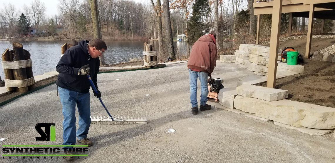 Process of Putting Green Turf Installation in Michigan