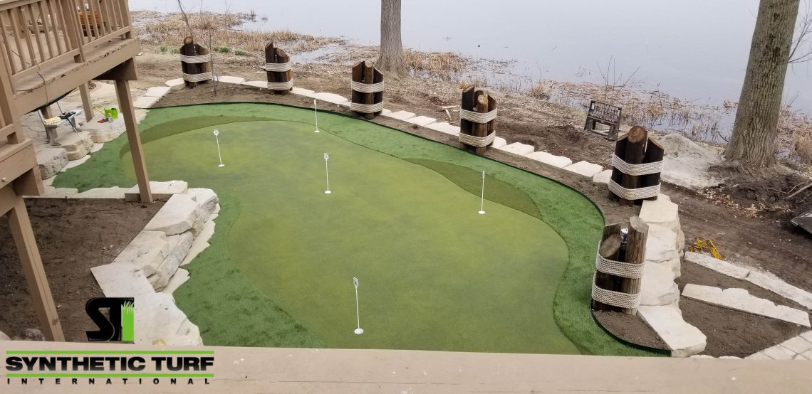 Finished Putting Green Turf Installation in Michigan