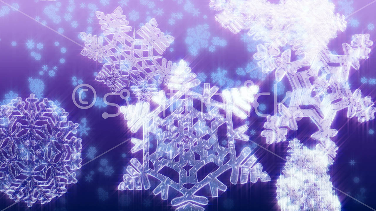 Christmas Snow Falling Wallpaper Big Purple Snowflakes Stock Video Footage Synthetick