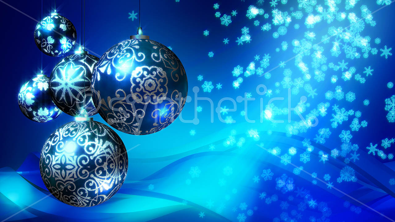 Free 3d Snow Falling Wallpaper Christmas Background Blue Stock Video Footage Synthetick