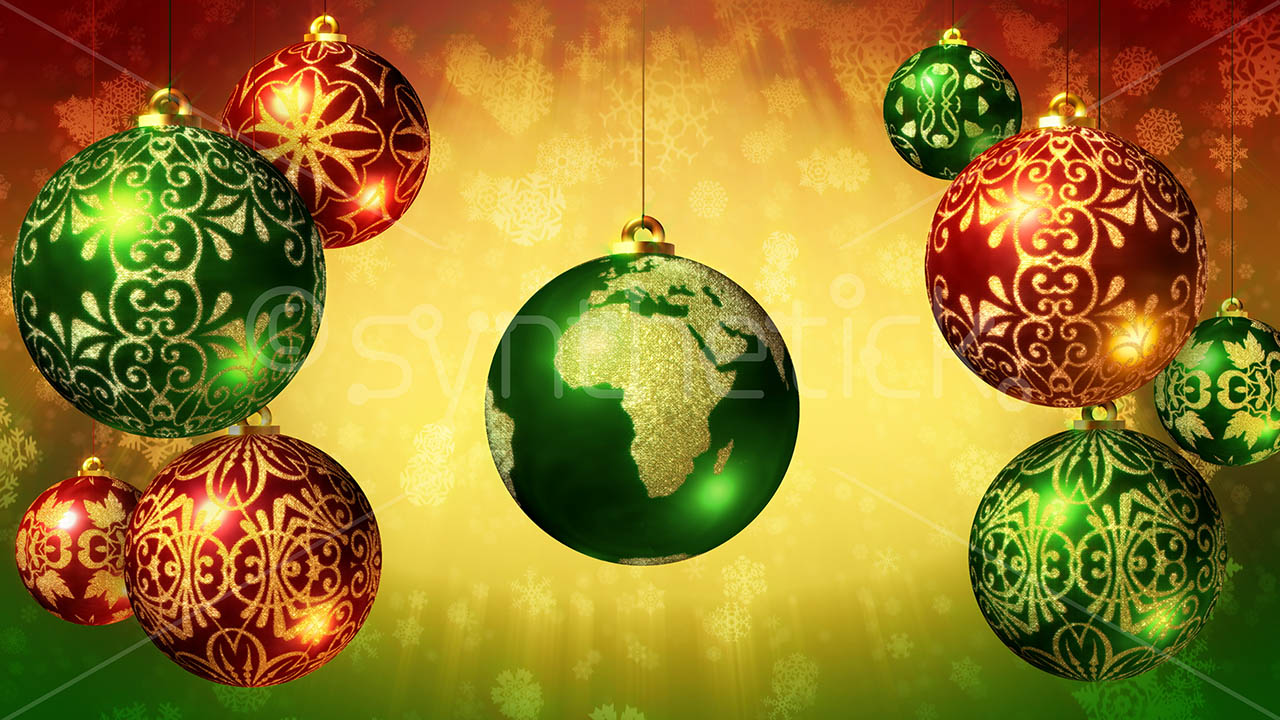 Snow Falling Background Wallpaper Earth Christmas Ball Stock Video Footage Synthetick