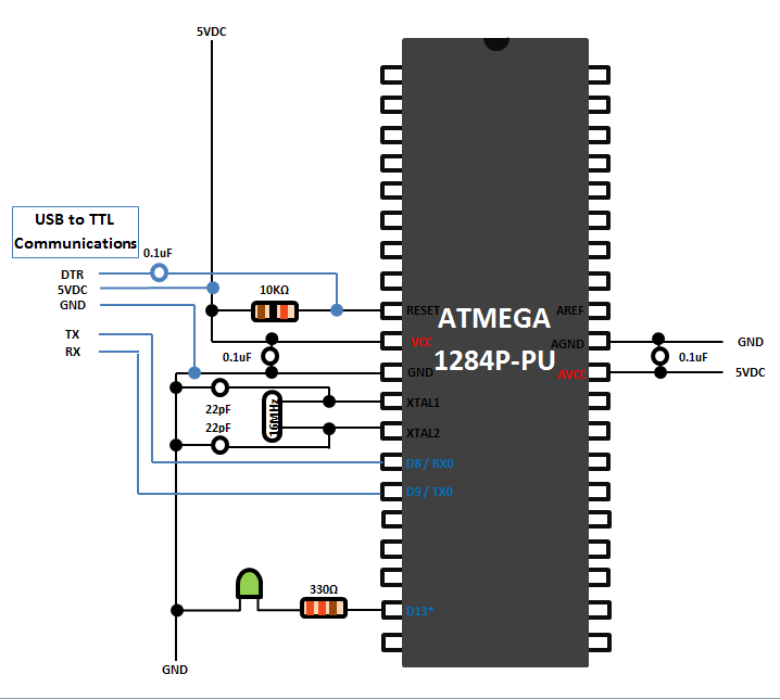 "Connecting USB to Serial/TTL to Breadboard ""Mega-P"