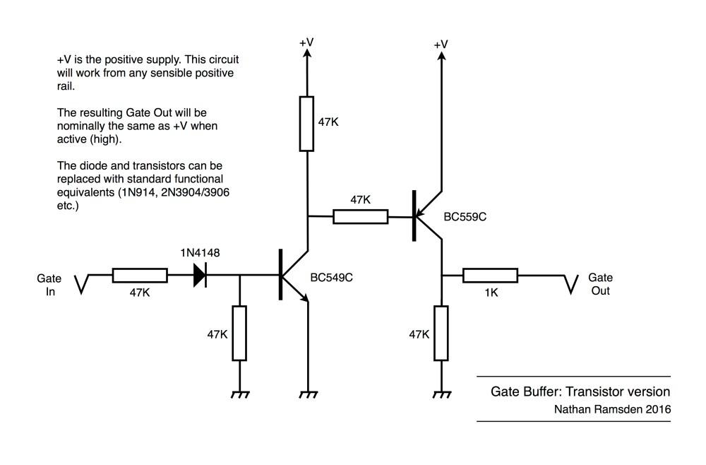 medium resolution of gate buffer using transistors