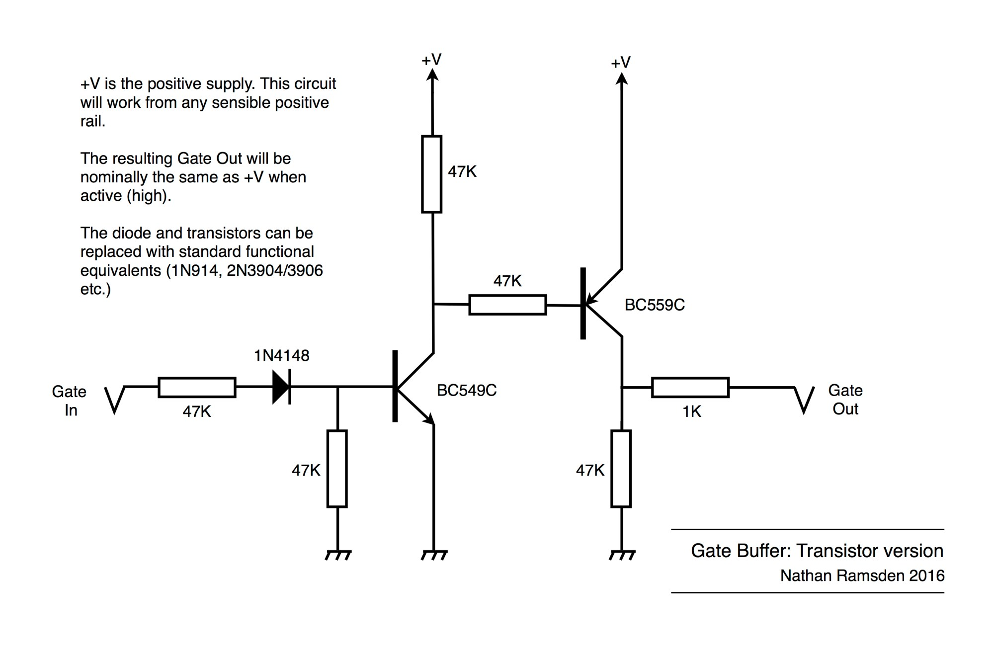 hight resolution of gate buffer using transistors