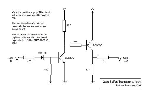 small resolution of gate buffer using transistors